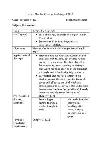 Trigonometry, Correlation